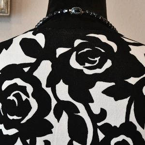White House Black Market Sweaters - White House Black Market Floral Cardigan Sz S